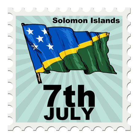 post stamp: post stamp of national day of Solomon Islands