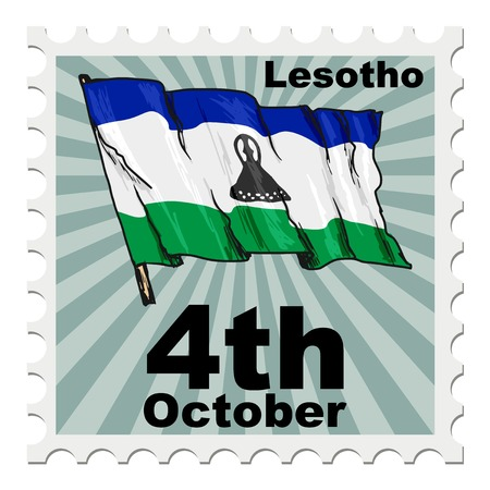national day: post stamp of national day of Lesotho