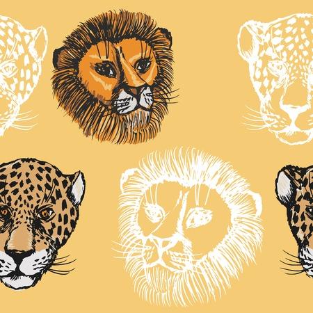 predators: sample of seamless background with predators