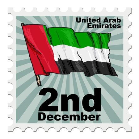 post stamp: post stamp of national day of United Arab Emirates Illustration