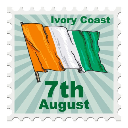 post stamp: post stamp of national day of Ivory Coast