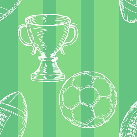 soccer background: sample of seamless background with sport motives