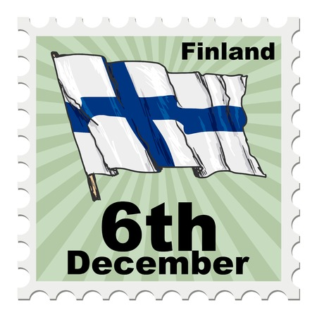 post stamp: post stamp of national day of Finland