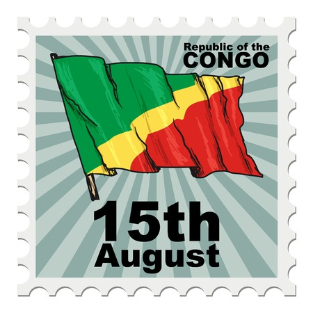 post stamp: post stamp of national day of Congo