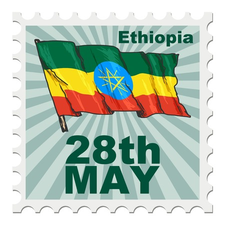 post stamp: post stamp of national day of Ethiopia