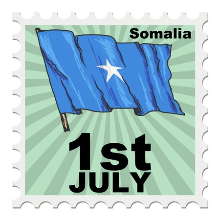 national day: post stamp of national day of Somalia