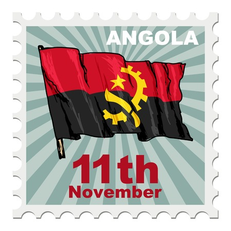 national day: post stamp of national day of Angola