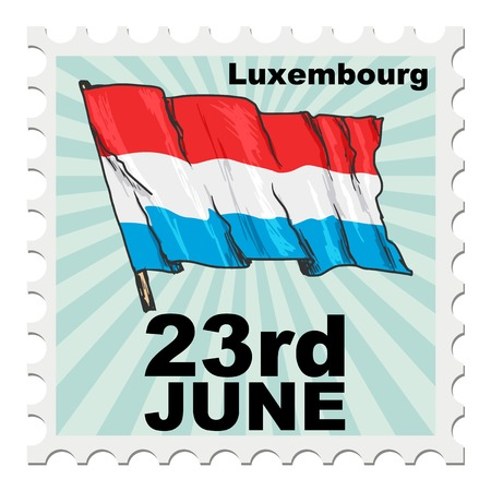 post stamp: post stamp of national day of Luxembourg Illustration