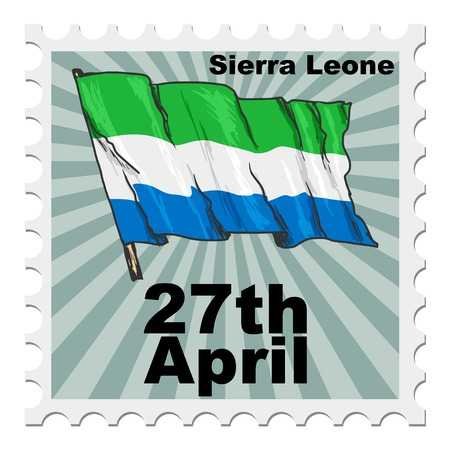 leone: post stamp of national day of Sierra Leone