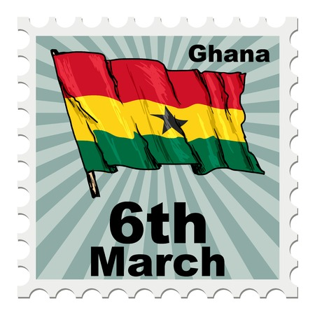national day: post stamp of national day of Ghana Illustration