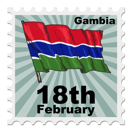 national day: post stamp of national day of Gambia