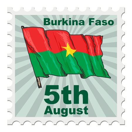 national day: post stamp of national day of Burkina Faso Illustration