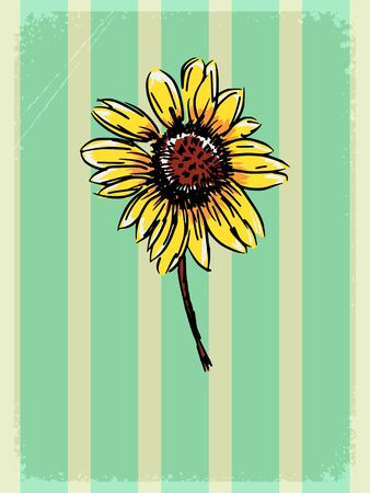 motive: vintage, grunge background with floral motive