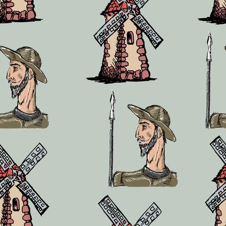 don quijote: muestra de fondo sin fisuras con Don Quijote