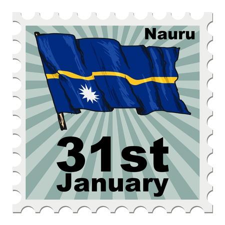 post stamp: post stamp of national day of Nauru