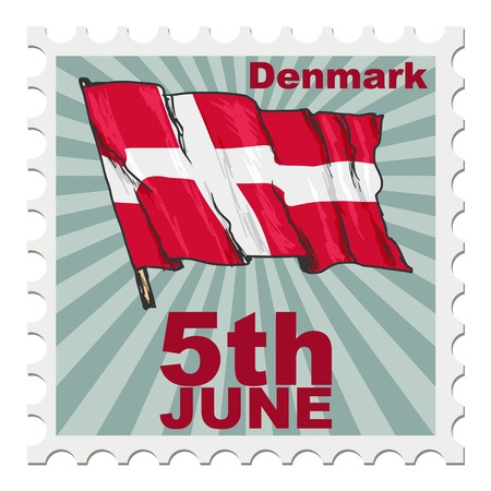 post stamp: post stamp of national day of Denmark