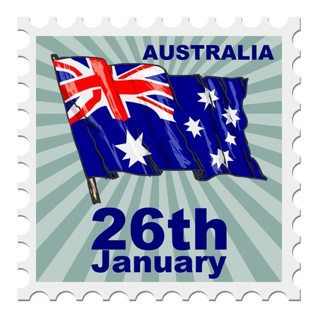 national day: post stamp of national day of Australia