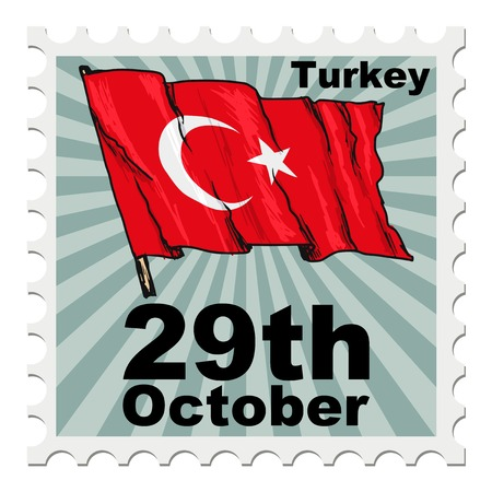 post stamp: post stamp of national day of Turkey