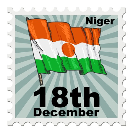 niger: post stamp of national day of Niger