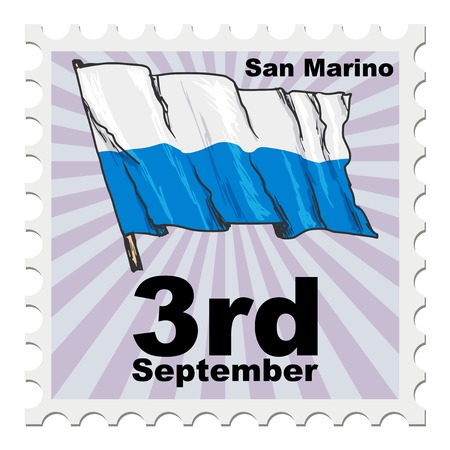 san marino: post stamp of national day of San Marino