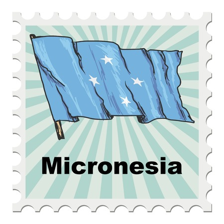 micronesia: post stamp of national day of Micronesia