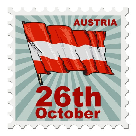 post stamp: post stamp of national day of Austria