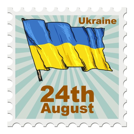 post stamp: post stamp of national day of Ukraine