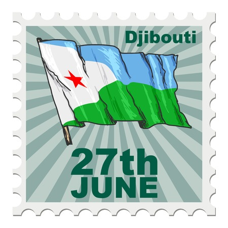 post stamp: post stamp of national day of Djibouti