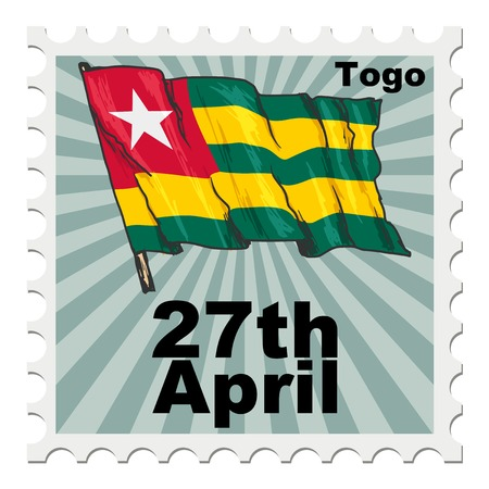 national day: post stamp of national day of Togo