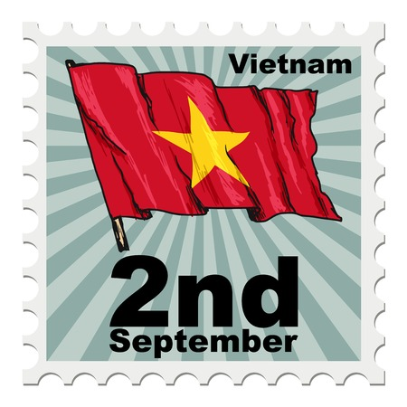 national day: post stamp of national day of Vietnam