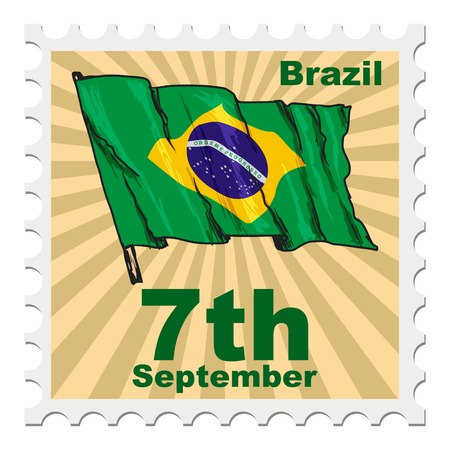 post stamp: post stamp of national day of Brazil