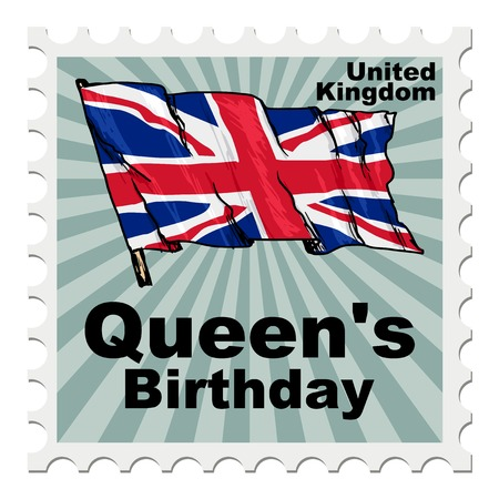 post stamp: post stamp of national day of UK