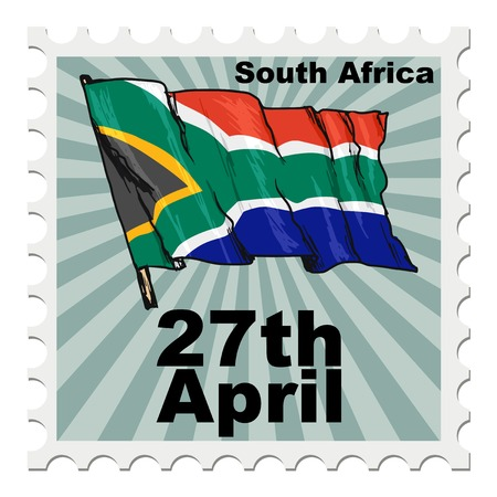 post stamp: post stamp of national day of South Africa