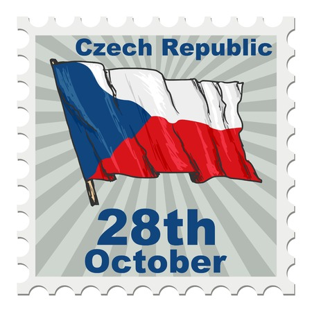 the czech republic: post stamp of national day of Czech Republic