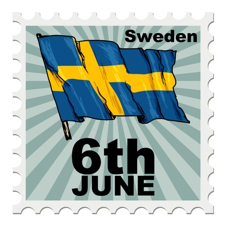 post stamp: post stamp of national day of Sweden