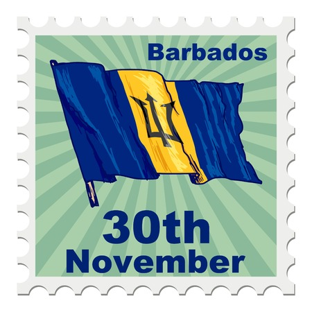 post stamp: post stamp of national day of Barbados