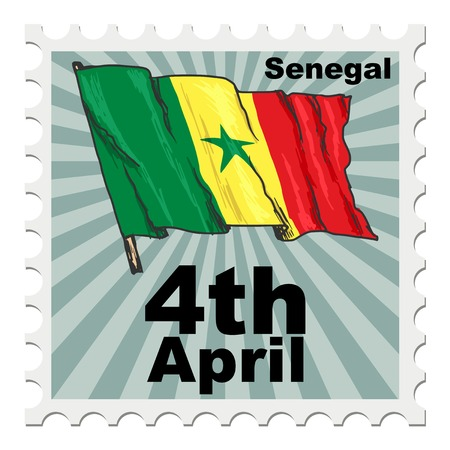 post stamp: post stamp of national day of Senegal