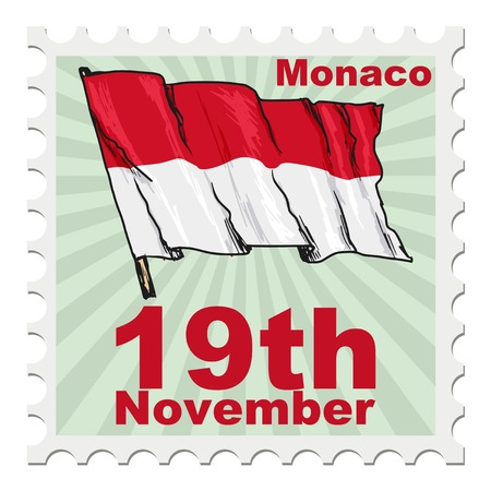 post stamp: post stamp of national day of Monaco