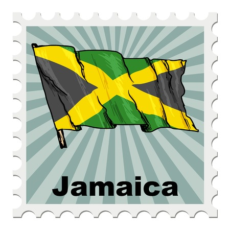 jamaica: post stamp of national day of Jamaica Illustration