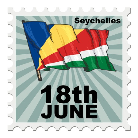 national day: post stamp of national day of Seychelles