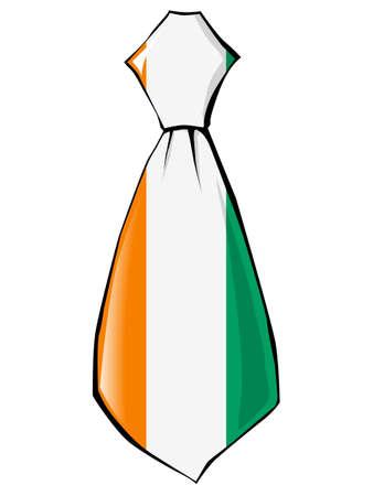 v�tements pli�s: cravate aux couleurs nationales de C�te-d'Ivoire Illustration
