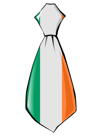 necktie: necktie in national colours of Ireland