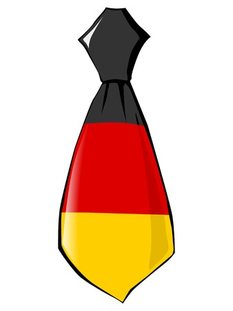 folded clothes: necktie in national colours of Germany Illustration