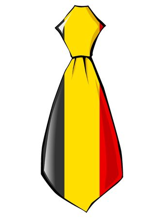 folded clothes: necktie in national colours of Belgium