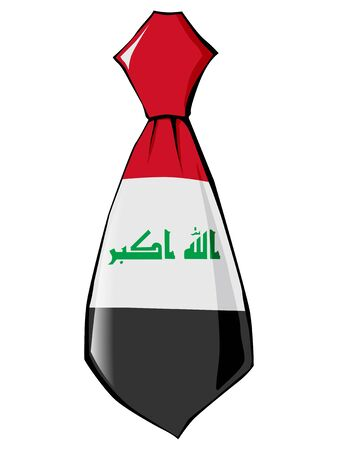folded clothes: necktie in national colours of Iraq