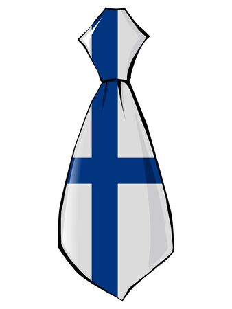 necktie: necktie in national colours of Finland