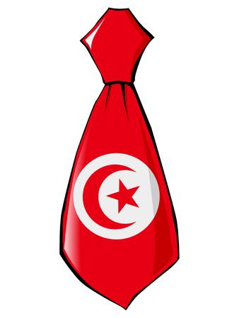 v�tements pli�s: necktie in national colours of Tunisia