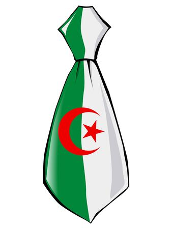 necktie: necktie in national colours of Algeria