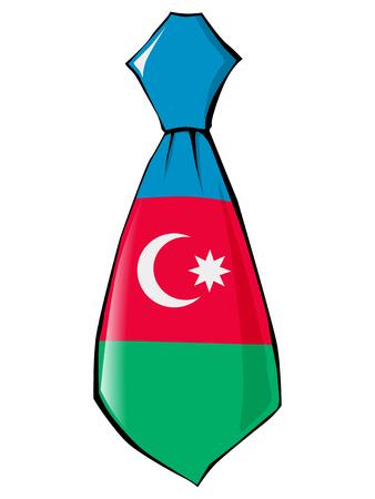 v�tements pli�s: cravate aux couleurs nationales de l'Azerba�djan