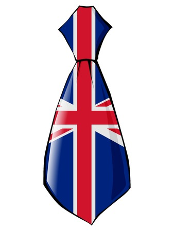 england politics: necktie in national colours of UK Illustration